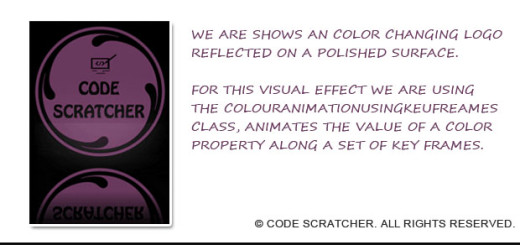 Visual Effects in WPF-CodeScratcher
