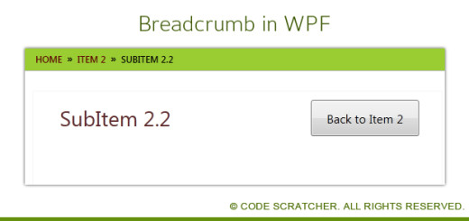 Breadcrumb in WPF - CODE SCRATCHER