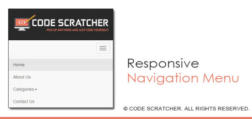 Responsive Navigation Menu using Twitter Bootstrap - CODE SCRATCHER