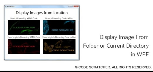 Display Image From Folder or Current Directory in WPF
