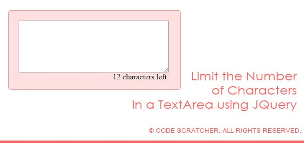 Limit the Number of Characters in a TextArea using JQuery