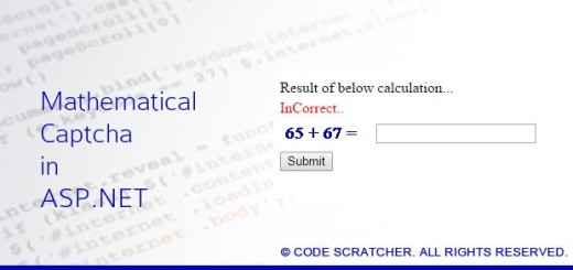 Mathematical Captcha in ASP.NET - CODE SCRATCHER
