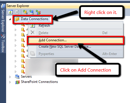 Step2: Connect database with C# project