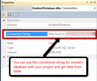 Step5: Connect database with C# project