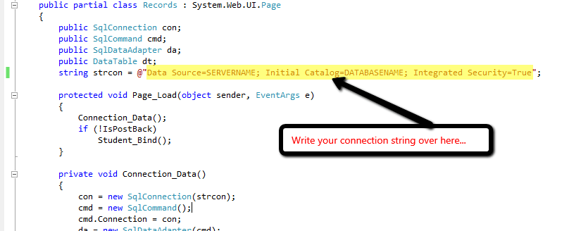 Step6: Connect database with C# project