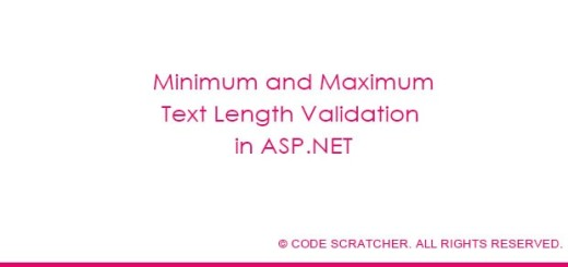 Minimum and Maximum Text Length Validation in ASP.NET - CODE SCRATCHER