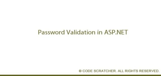 Password Validation in ASP.NET - CODE SCRATCHER