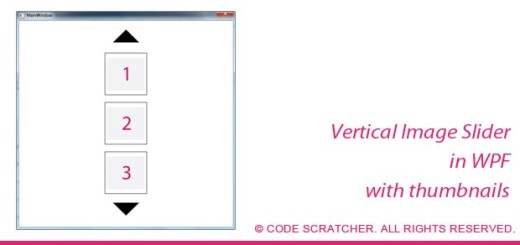 Vertical Image Slider in WPF - CODE SCRATCHER