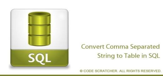 Convert Comma Separated String to Table in SQL - CODE SCRATCHER