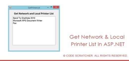 Get Network and Local Printer List - CODE SCRATCHER