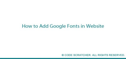 How to Add Google Fonts in Website - CODE SCRATCHER