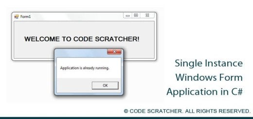 Single Instance Windows Form Application - CODE SCRATCHER