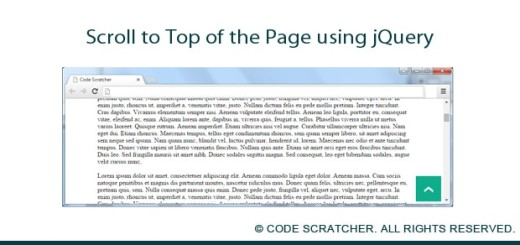 Scroll to Top of the Page using jQuery - CODE SCRATCHER