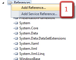 Add reference of WindowsForms