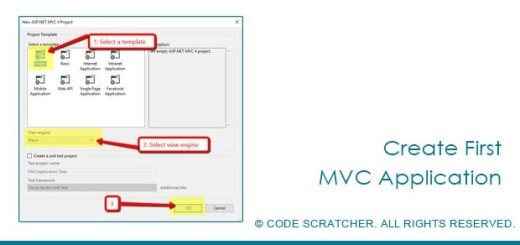 Create First MVC Application - CODE SCRATCHER