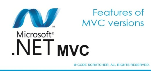 Features of MVC versions - Code Scratcher