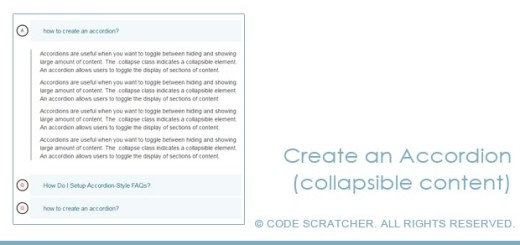 Create an Accordion (collapsible content)